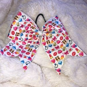 Girly Emoji Cheer Bow